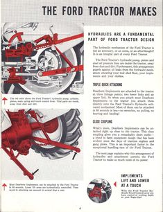 Ford Tractor with Exclusive Proof-Meter - ad brochure Chevy Trucks Older, Old Ford Trucks, Lifted Chevy Trucks, Pickup Trucks, 8n Ford Tractor, Homemade Tractor, Chevy Chevrolet, Old Fords, Vintage Farm