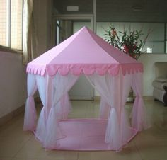 Amazon.com : Princess Castle PLay Tent By Sid Trading fairy princess castle : Childrens Play Tents : Toys & Games