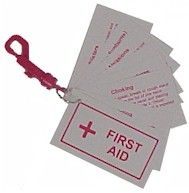Create your own First Aid Booklet for kids – you can laminate it, cut it apart and put it together to help educate your child…and then it's useful to keep as a handy reference for campers and babysitteres. They even offer a first aid prepared patch once