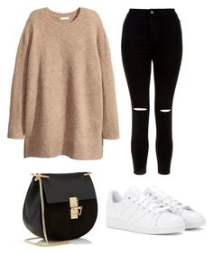 """""""Untitled #4"""" by lauriina-holmstrom on Polyvore featuring New Look, Chloé and adidas"""