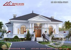 Classic House Design, My House Plans, Da Nang, House Made, Cool Designs, Exterior, How To Plan, Mansions, House Styles