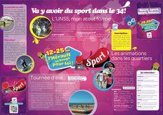 """Zcard """"sport et jeunesse"""", département de l'Hérault - Agence Etincelle."""