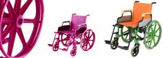 The colourful wheelchairs of Rockfish Creative Products - www.rockfishcreative.com