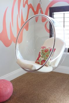 retro round pink egg chair- want! <3 | home} girly room