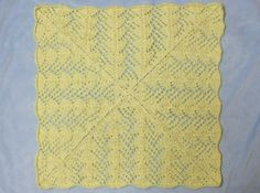 Fan Lace Baby Blanket - Afghans Baby Knitted My Patterns - - Mama's Stitchery Projects