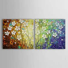 Hand-painted Abstract Oil Painting with Stretched Frame - Set of 2 – EUR € 94.99