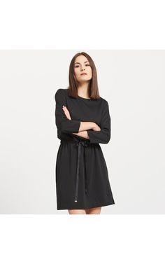 LADIES` DRESS, ПЛАТЬЯ, черный, RESERVED