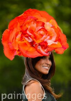 Jackie St Clair wearing a floral hat on Day Two of the 2014 Royal Ascot Meeting at Ascot Racecourse, Berkshire.
