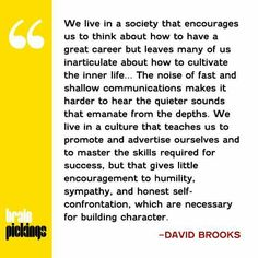Society - David Brooks