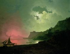 Vesuvius Wall Art Prints by Joseph Wright of Derby