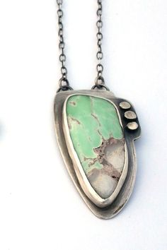 Mint Green and Gray Variscite and Sterling Silver by ErinAustin