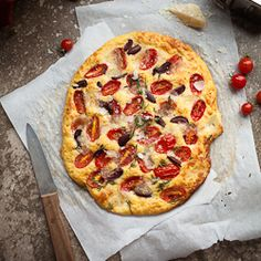 Cherry Tomato, Olive and Thyme Focaccia Bread (Gluten Free and Grain Free) | Gourmande in the Kitchen