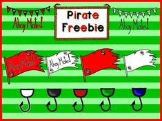 This Pirate Clipart Freebie has 17 png transparent images. Line art is not shown in the preview, but it is also  included for each image.Thank you !