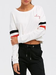 SHARE & Get it FREE | Color Block Cropped SweatshirtFor Fashion Lovers only:80,000+ Items • New Arrivals Daily Join Zaful: Get YOUR $50 NOW!