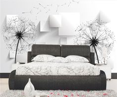 3d dandelion wallpapers for home interior decorator wall paper, View 3d dandelion wallpapers , clful Product Details from Guangzhou Magic Color Digital Painting Ltd. on Alibaba.com