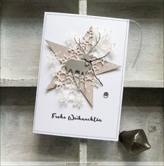 Paper, ART & Co.: Im Schneegestöber #diychristmasartxmas (diy christmas art xmas) Die Cut Christmas Cards, Christmas Card Crafts, Homemade Christmas Cards, Printable Christmas Cards, Christmas Paper, Christmas Design, Xmas Cards, Christmas Greetings, Homemade Cards