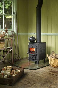 cute wood stove area