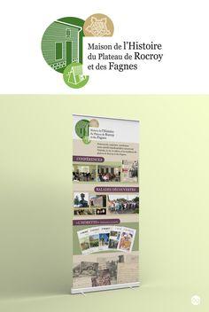 Logo et Roll-Up pour la Maison de l'Histoire du Plateau de Rocroy et des Fagnes…