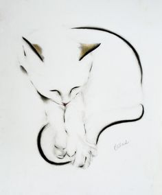 The Tail is Caught!, Pencil drawing by Kellas Campbell | Artfinder