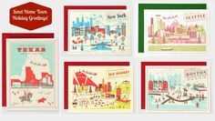 This year send home town holiday cards or gift them as a realtor housewarming thank you gift!