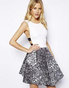 it looks like something i can make...but i like it ASOS Scratch Print Skater Dress