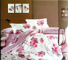 Sooting colored floral bedsheet 100% Cotton king size