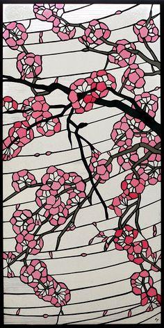 和風ステンドグラス「桜」