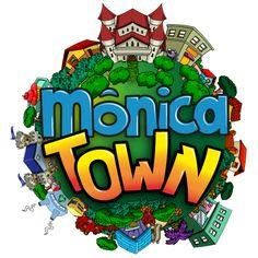 """Logo criada para o jogo """"Mônica Town"""" para Skillab e Mauricio de Sousa"""