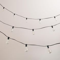 Edison-Style String Lights | World Market  24.99-49.99 10-30 bulb string