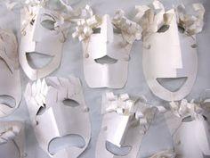 Greek tragedy masks just using white cardstock
