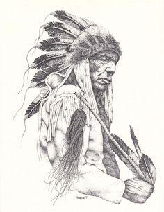 Cheyenne Chief, Pointillism