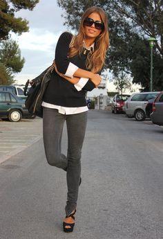Uniform , Zara en Jeans, Marypaz en Tacones / Plataformas, Zara en Jerseys, Zara en Bolsos