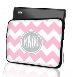 Adorable laptop cases! No more Chevron but solid red or navy with gray monogram would be presh