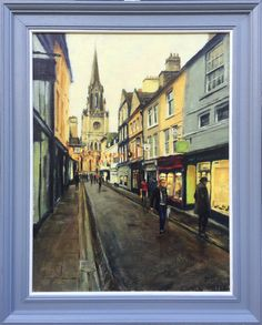 This painting is from my series of Bath pictures. Painted on linen canvas board with several layers of gesso and oil ground. It has a layer of retouching Bath Pictures, Green Street, Canvas Board, 5 Months, Authenticity, Certificate, Layers, My Arts, Author