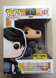 Funko POP! Riot Gear Glenn Rhee The Walking Dead *Hot Topic Exclusive* RARE