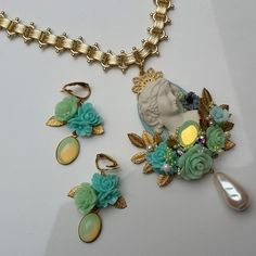 ROCOCO Inspired Necklace & Earrings от AbominabilisTempus на Etsy