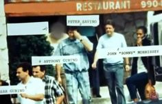 2 Gambino guys: the Gurino's, Pete Savino was a Genovese associate who sent Chin Gigante to jail after turning on him and Lucchese associated Union boss John Morrissey, who would get killed on behalf of Gas/Amuso.