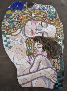Mother and Child - Private Commission - Zantium Studios - Mosaic Artists and Craft Courses