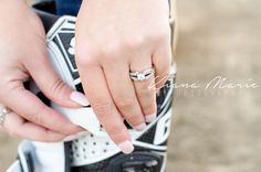 Close up engagement ring shot. #Motocross #EngagementRing #Engagement #Engaged #Love #Wedding #WeddingRing #Couple #Dirtbike #MotocrossEngagement #MotocrossWedding #Diamond #Photography #WeddingPhotography #TexasPhotography #TexasWedding #TexasEngagement #Sunset #Romantic