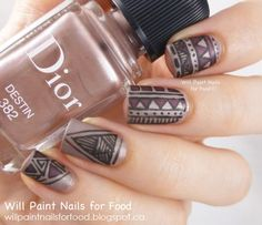 Will Paint Nails for Food: 31 Day Challenge: Day Sixteen, Tribal: Dior Matte Tribal Nail Art