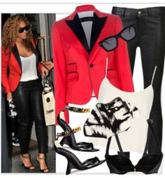 Great look to go with the Alexander McQueen Siamese print De Manta and the Pierre Balmain black leather biker pants!