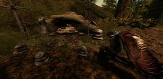 Paying respect at the memorial in Chaddul Ro, the Orc outpost created by Searlait Nitschke. Back Home