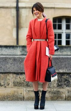hanneli-coral-coat, belted coat, feminine look, strong and confident, fresh outfit
