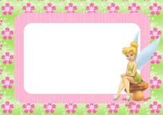 Free Tinkerbell Party Invitations, Cards, Backgrounds and Labels.