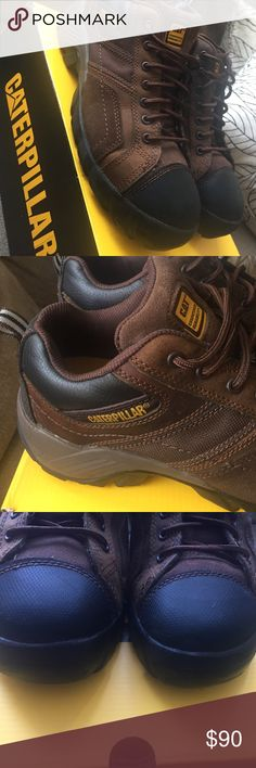 CATERPILLAR BRAND. MEN COMPOSITE TOE WORK SHOES ! Worn only once , like new ! MEN work shoes Caterpillar Shoes