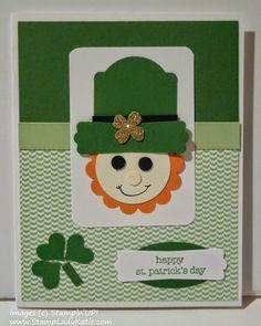 Leprechaun Punch Art card for St. Patrick's Day