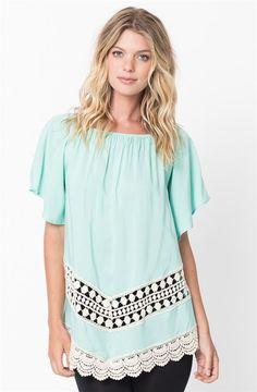 Short Bell Sleeve Crochet Tunic | Jane