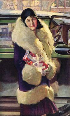 Vintage Christmas image - Chevrolet ad, 1929