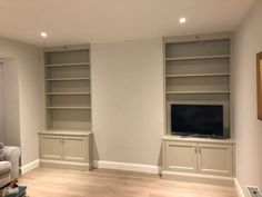 Alcove unit with shaker doors - Floor to ceiling Shaker Doors, Furniture For You, Wood Design, Alcove, The Unit, Ceiling, Flooring, Cork, Living Rooms
