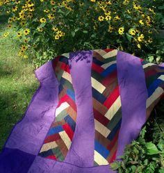 Amish Quilted Pot Holder Log Cabin Pattern